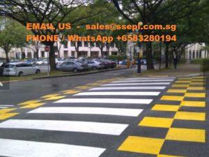 Thermoplastic Zebra Crossing