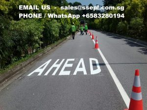 road line marking Singapore